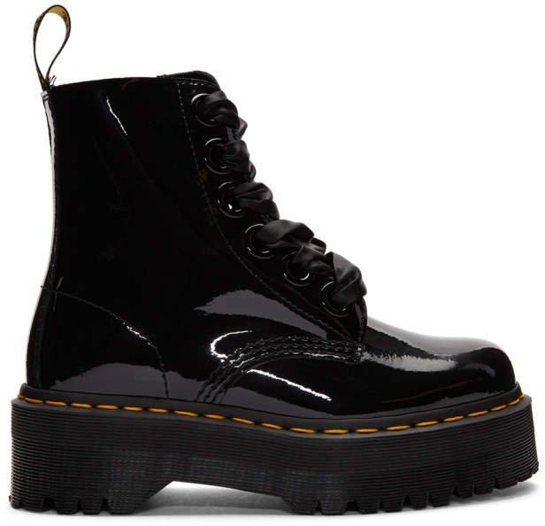 Black Patent Molly Lolita Boots