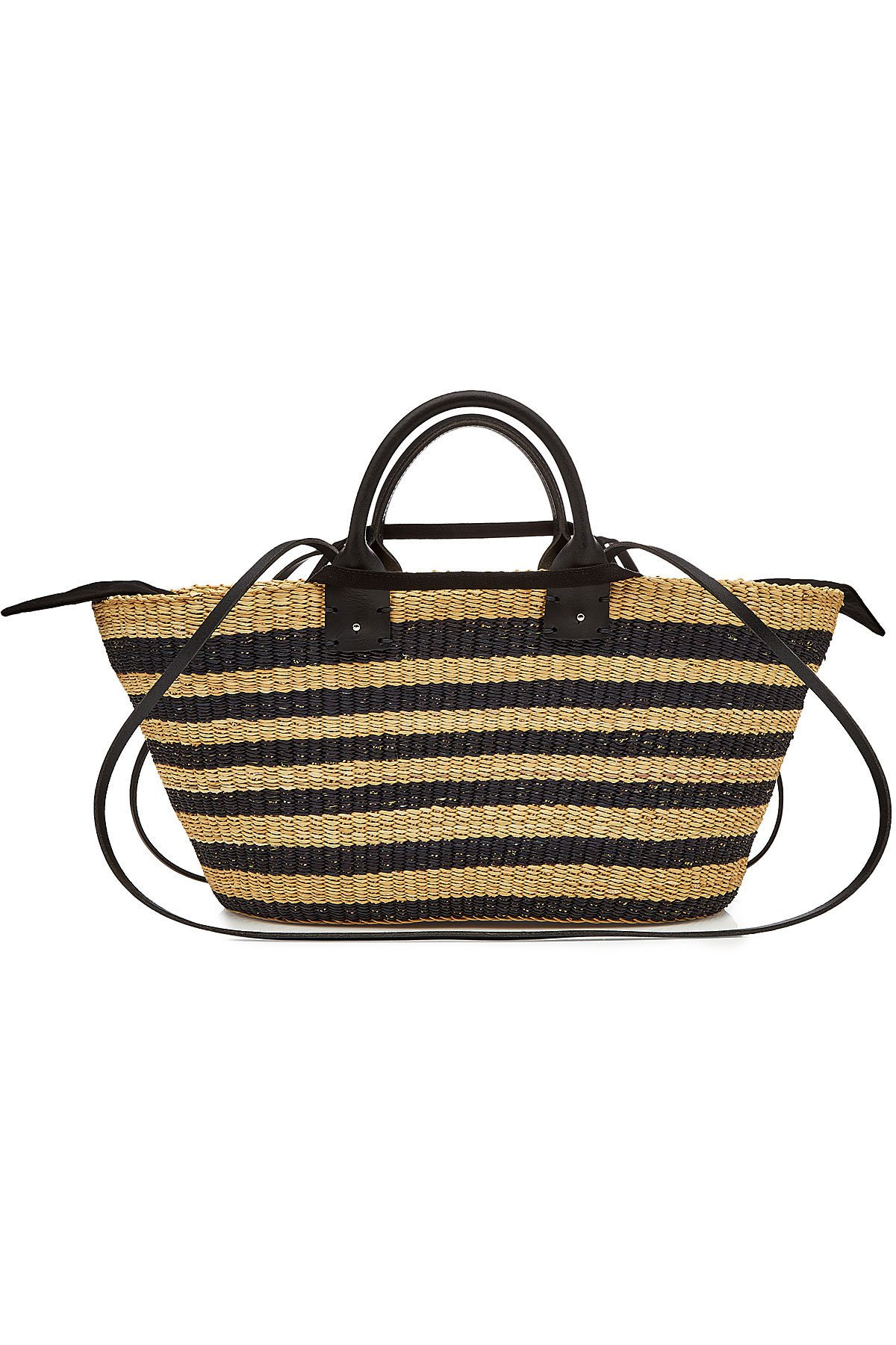 Paul Straw Tote with Leather Gr. One Size
