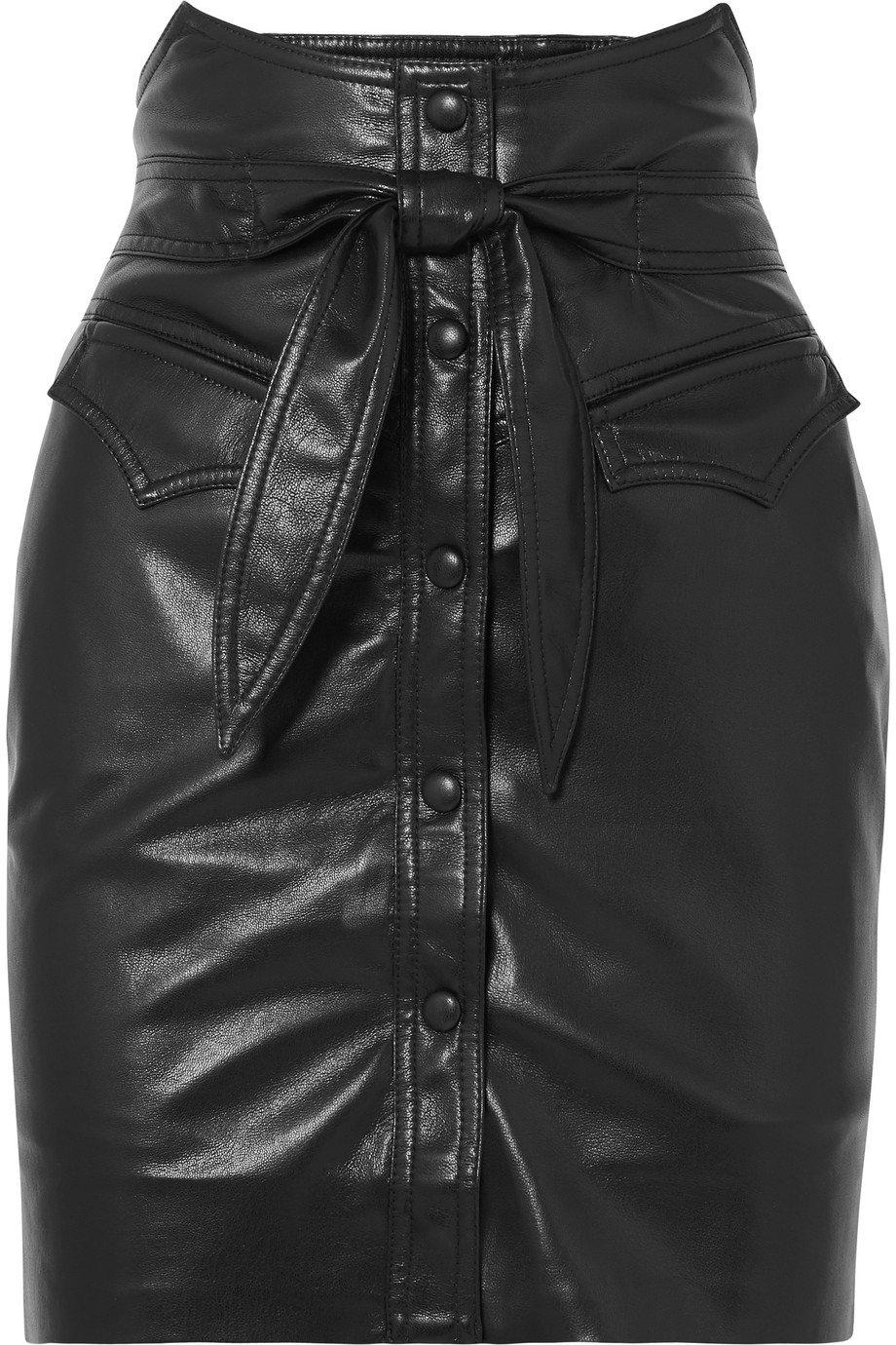 Nanushka | Reese belted vegan leather mini skirt | NET-A-PORTER.COM