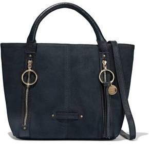 Olga Zip-detailed Textured-nubuck Tote