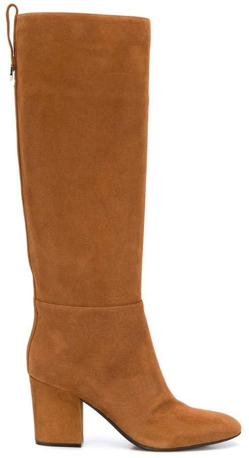 tall block heel boots
