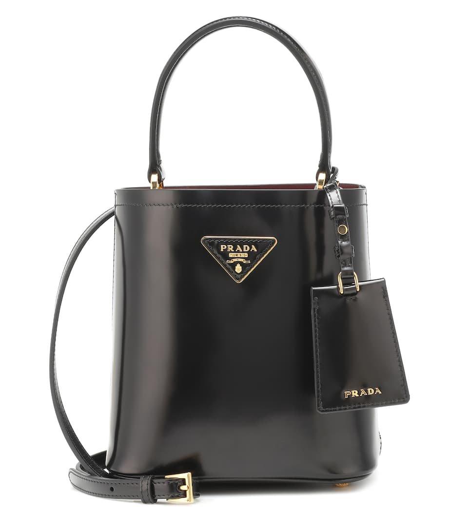 Panier Small Leather Shoulder Bag - Prada   Mytheresa
