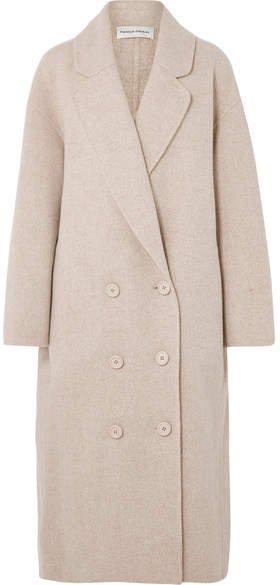 Oversized Wool-blend Coat - Beige