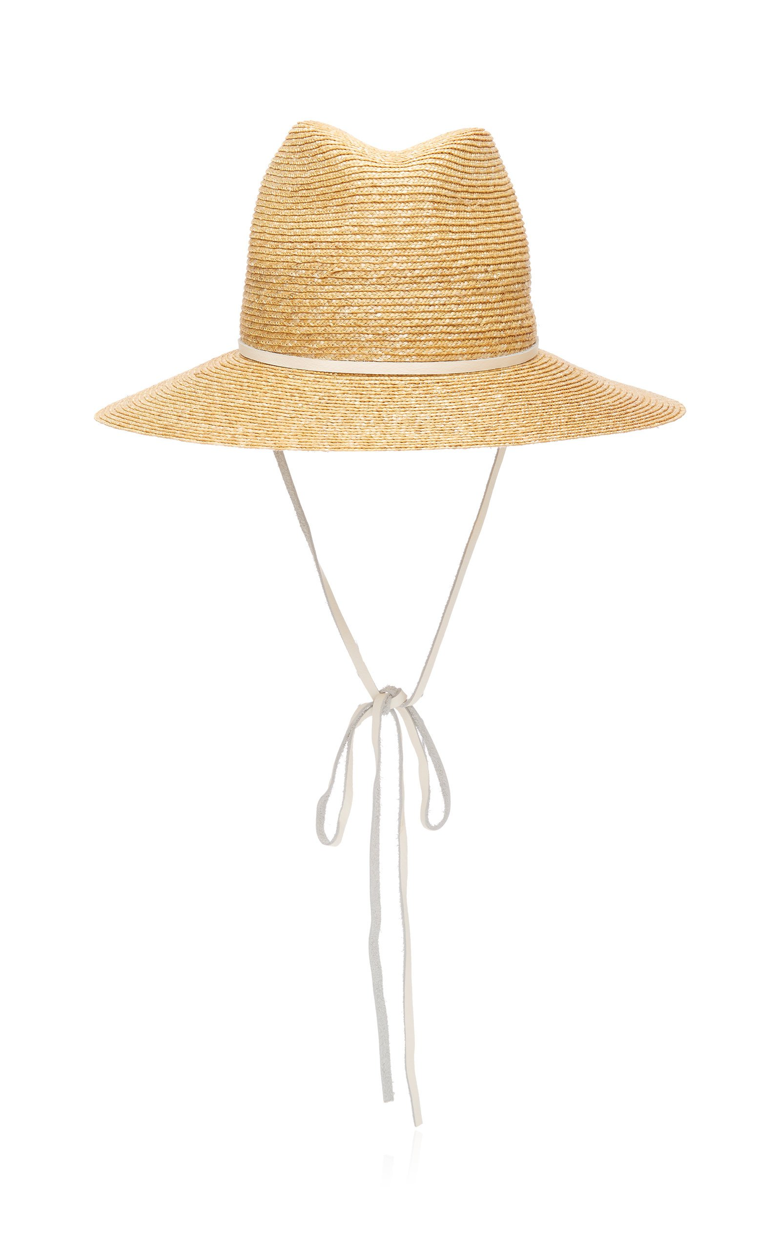 Lola Hats Marseille Leather-Trimmed Straw Hat