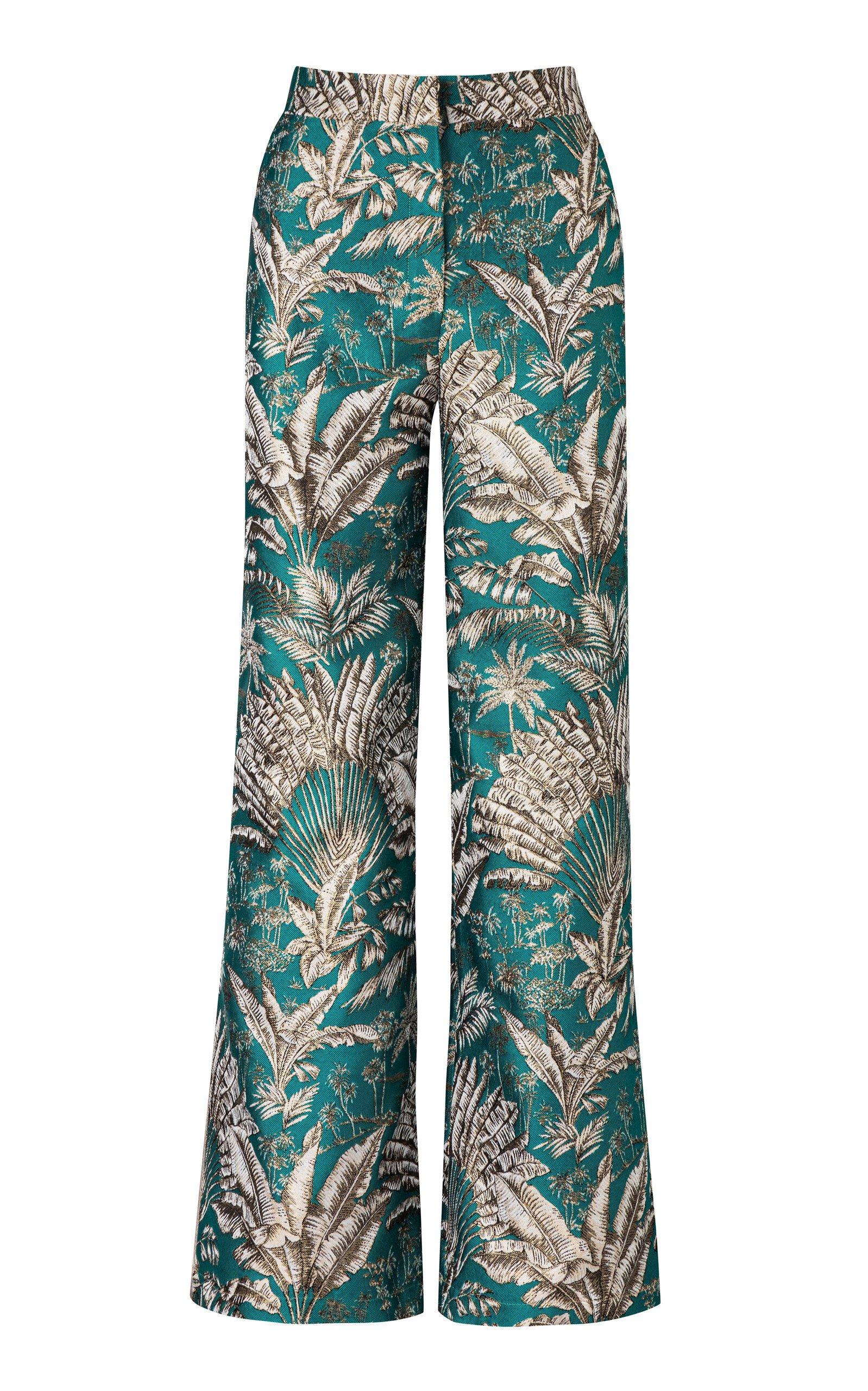 Maison Alma Platanera Jacquard Trousers Size: XS