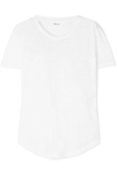 Madewell   Whisper T-Shirt aus Baumwoll-Jersey mit Flammgarneffekt   NET-A-PORTER.COM