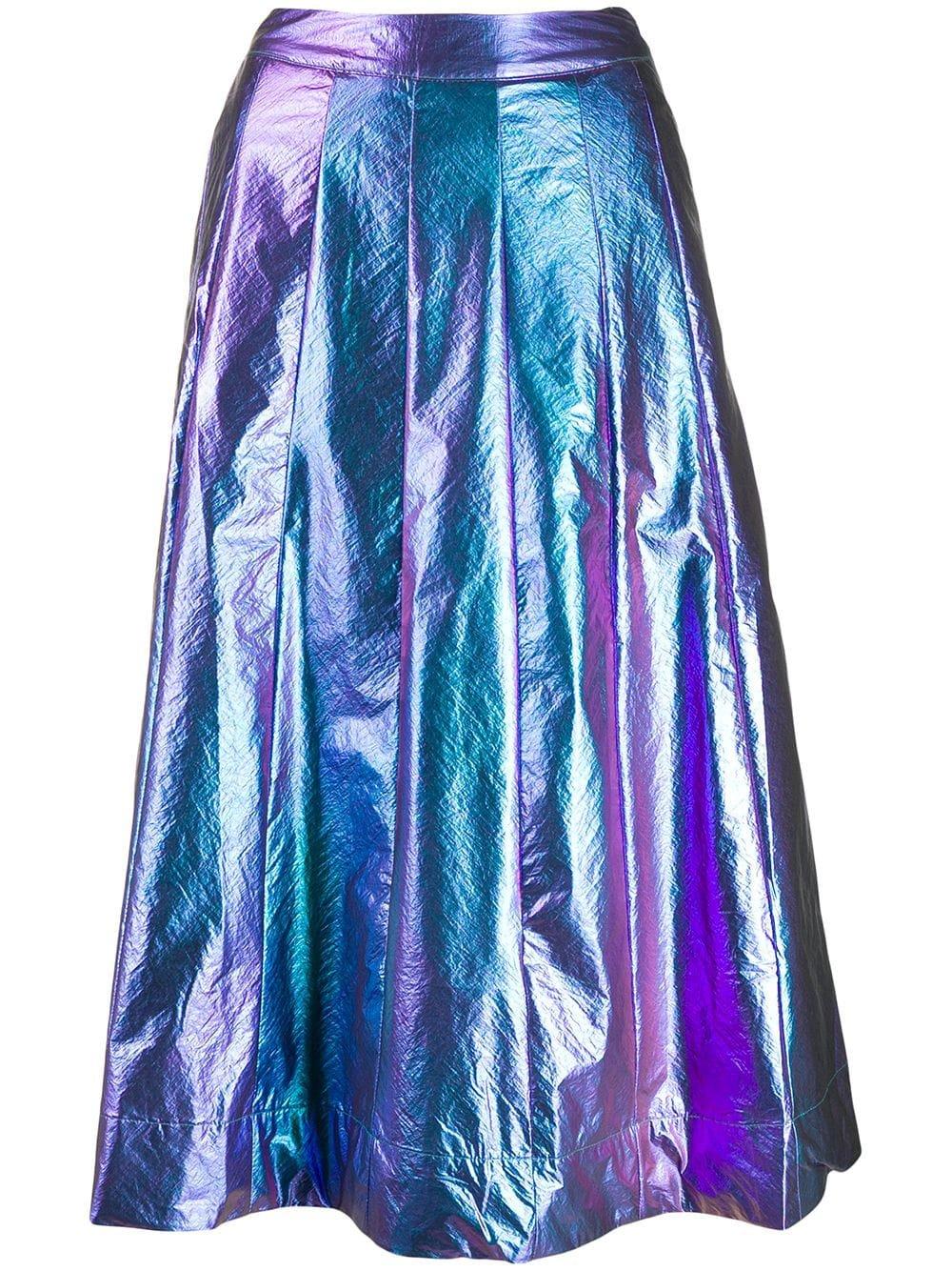 Essentiel Antwerp Metallic A-Line Skirt