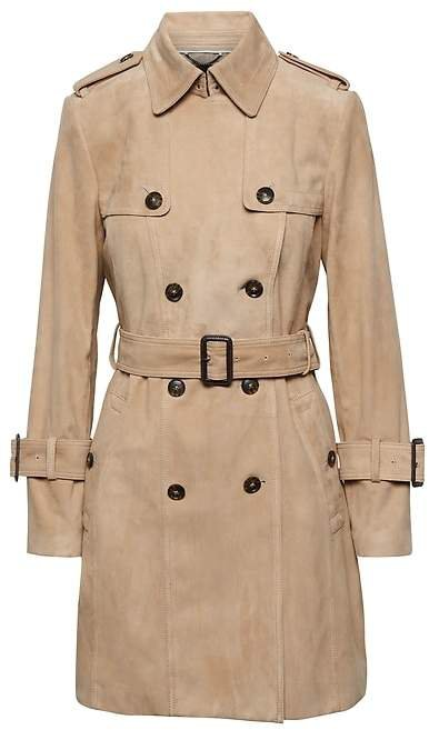 Suede Classic Trench Coat