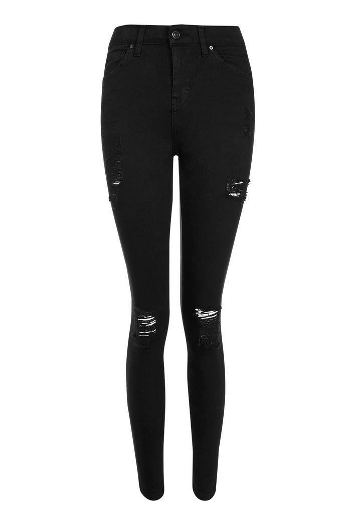 Black Super Rip Jamie Jeans | Topshop