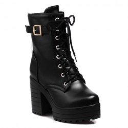 Black Heel Combat Boots