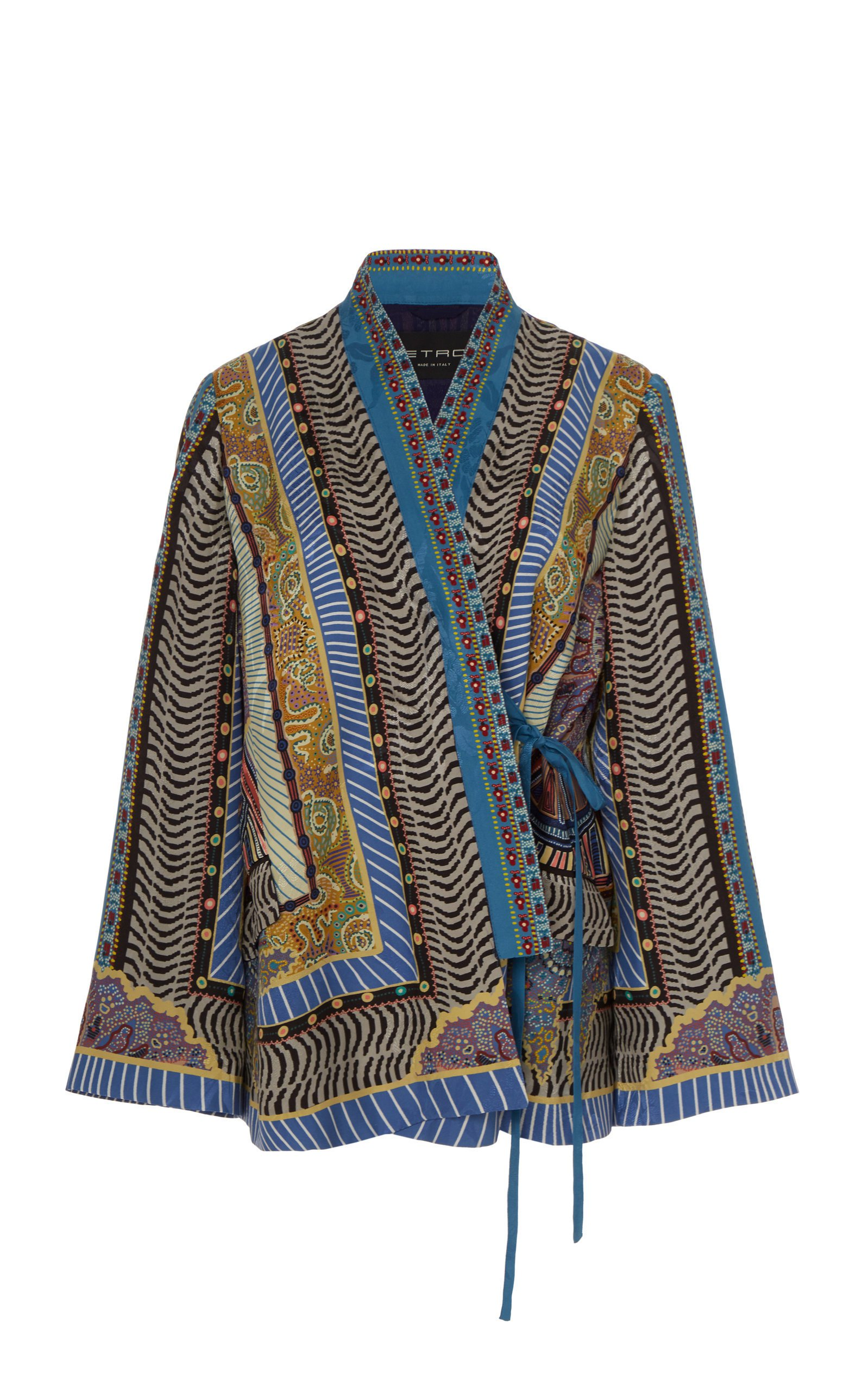 Etro Patterned Tie-Front Jacket