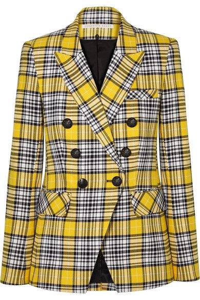 Veronica Beard   Miller Dickey checked cotton-blend blazer   NET-A-PORTER.COM