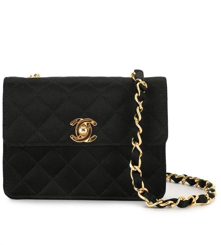 Pre-Owned mini diamond quilted crossbody bag