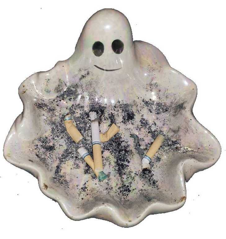 ghostly ash tray png