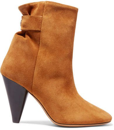 Lystal Suede Ankle Boots - Tan