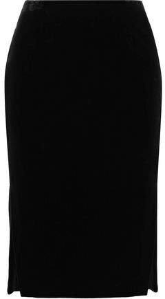Cotton-velvet Pencil Skirt