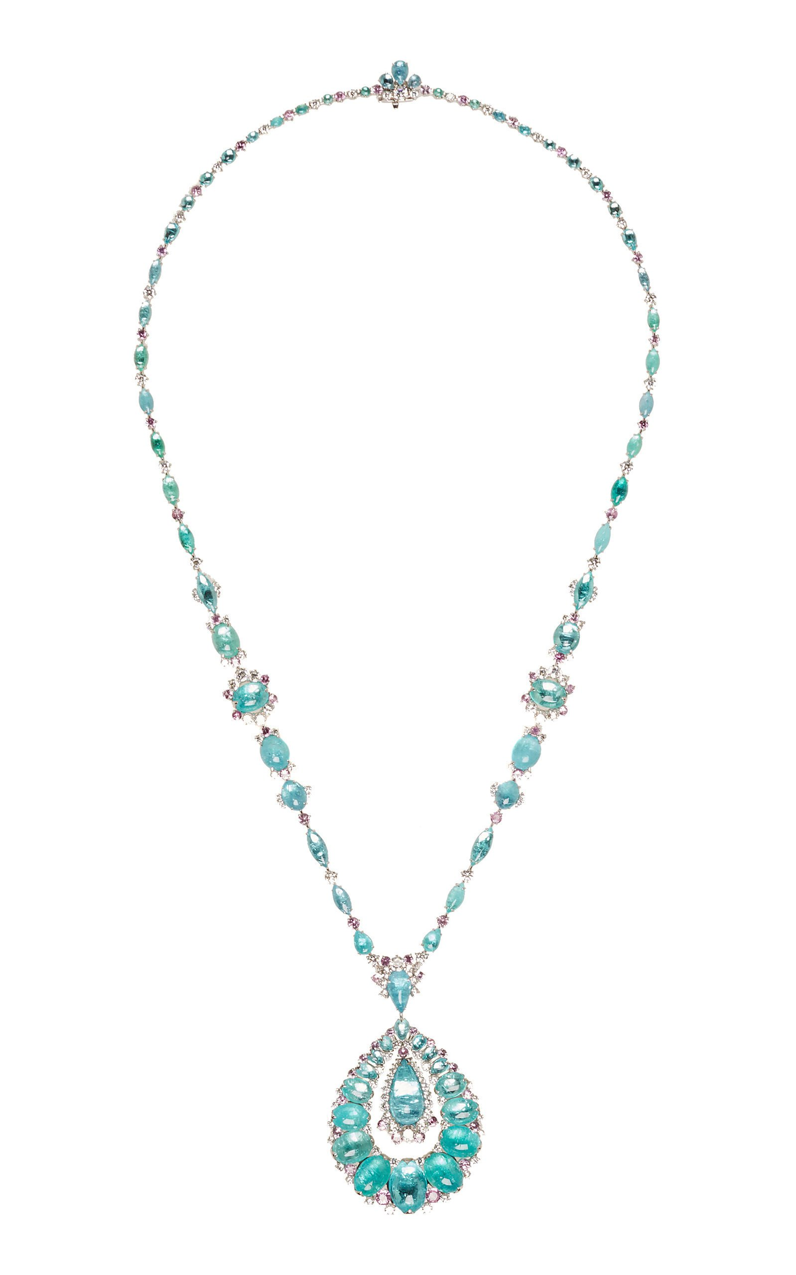 David Morris One Of A Kind Paraiba Tourmaline Neckalce