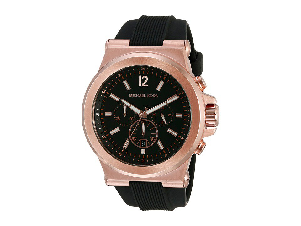 Michael Kors - MK8184 Dylan Watches (Rose Gold/Black) Watches