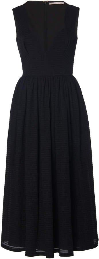 Junie Belted Crepe Midi Dress