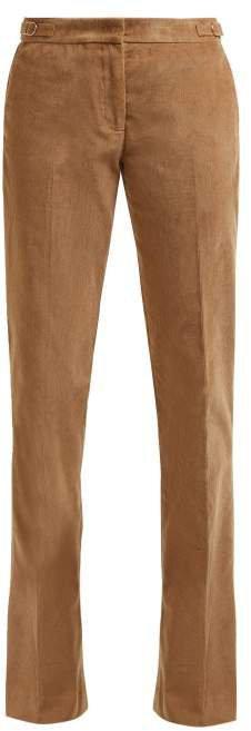 Briggs Micro Corduroy Wool Blend Trousers - Womens - Camel