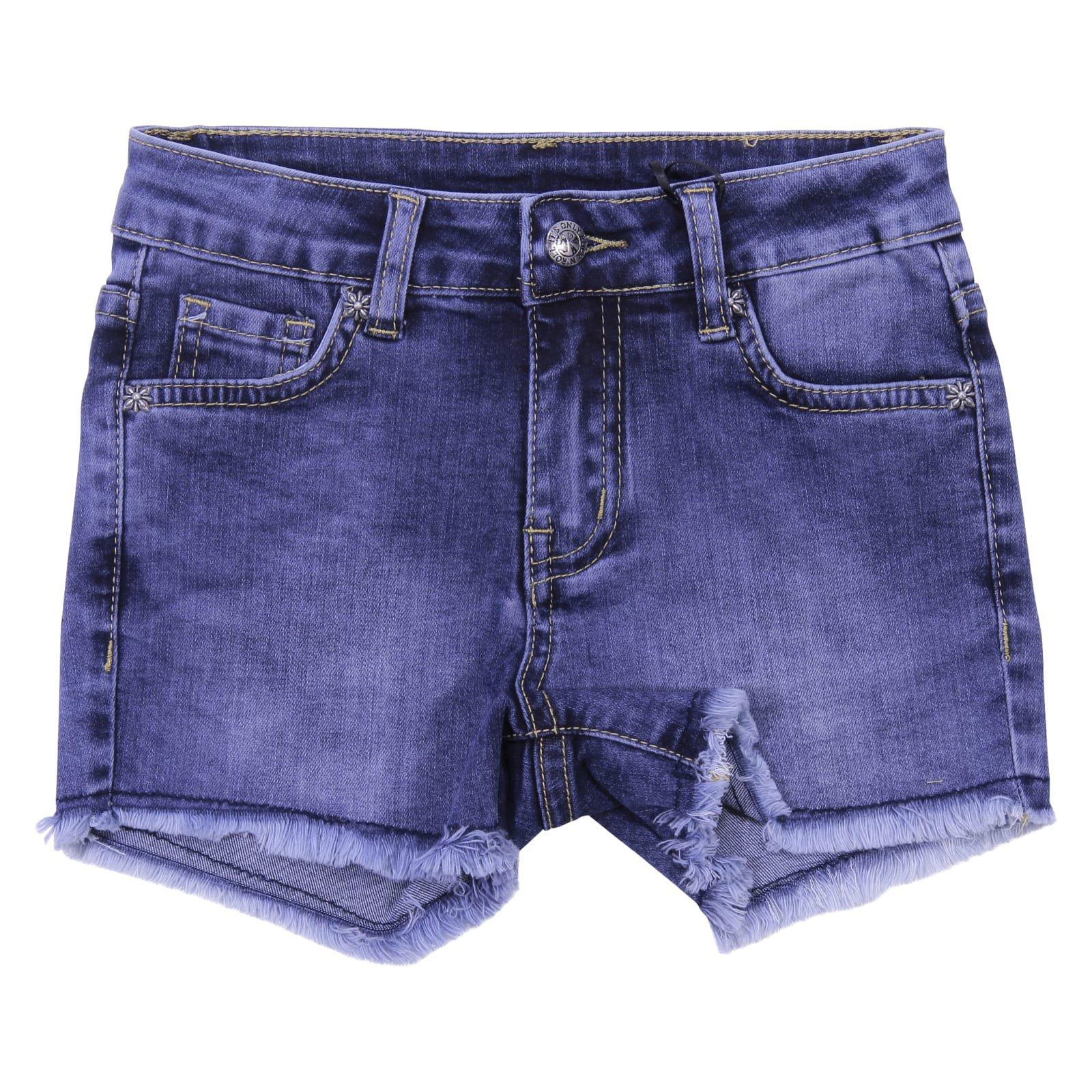 John Richmond Blue Cotton Denim Shorts