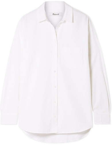 Oversized Cotton And Modal-blend Shirt - White