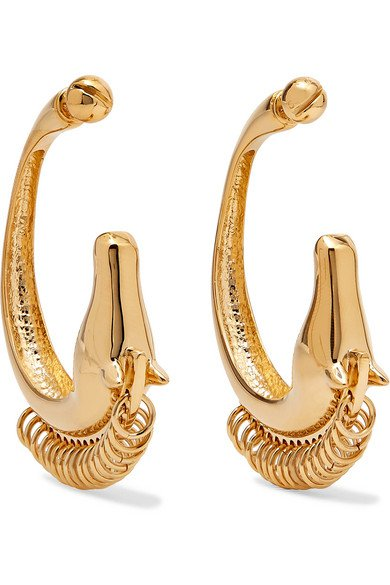 Chloé | Gold-tone earrings | NET-A-PORTER.COM