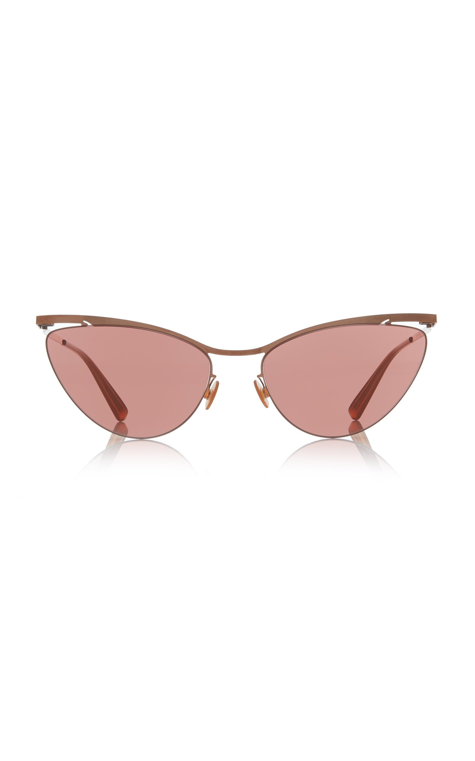 MYKITA Mizuho Cat-Eye Rose Gold-Tone Sunglasses