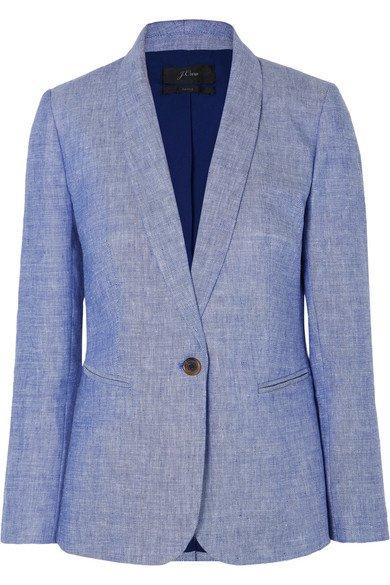 J.Crew   Parke linen-blend blazer   NET-A-PORTER.COM