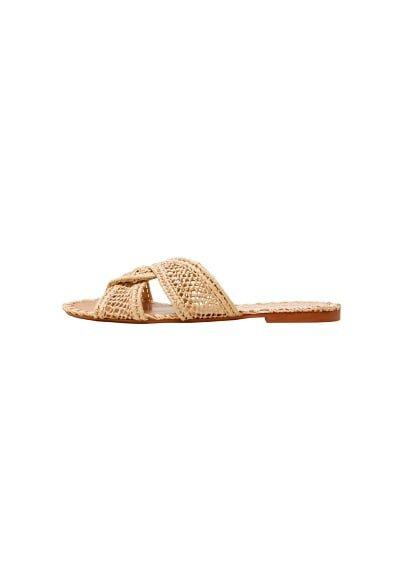 Violeta BY MANGO Raffia sandal