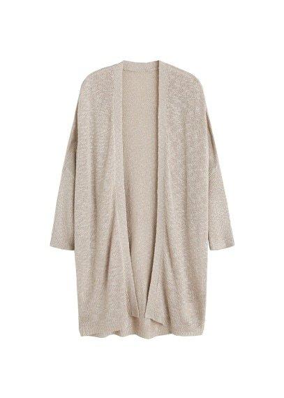MANGO Open knit cardigan