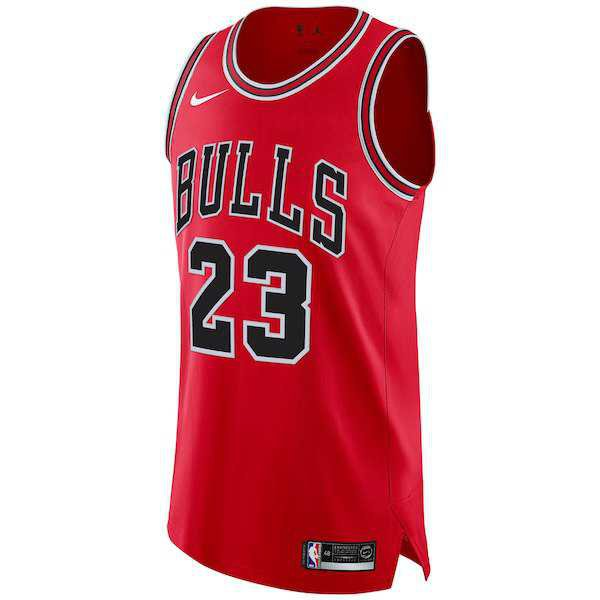Men's Chicago Bulls Michael Jordan Nike Red Boxed Authentic Jersey - NBA Store