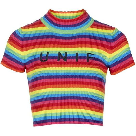 TOPSHOP Logo Rainbow Tee by UNIF