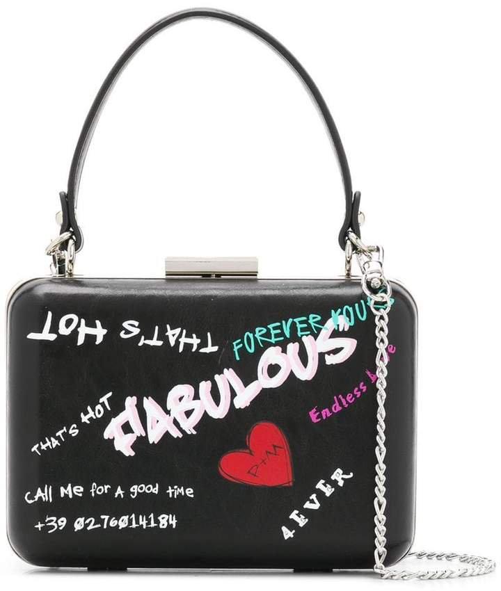 graffiti style clutch bag