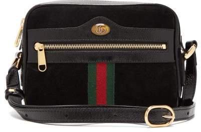 Ophidia Black Suede Cross Body Mini Bag - Womens - Black