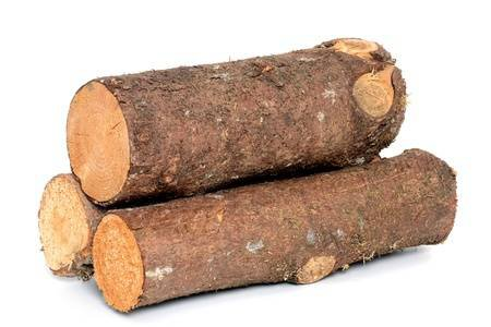 Wood Log As Fire Wood In Front Of A White Background Stock Photo, Picture And Royalty Free Image. Image 15327873.