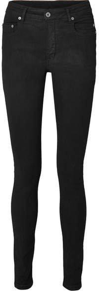 Coated High-rise Skinny Jeans - Black