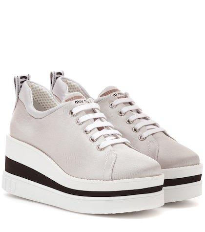 Neoprene platform sneakers