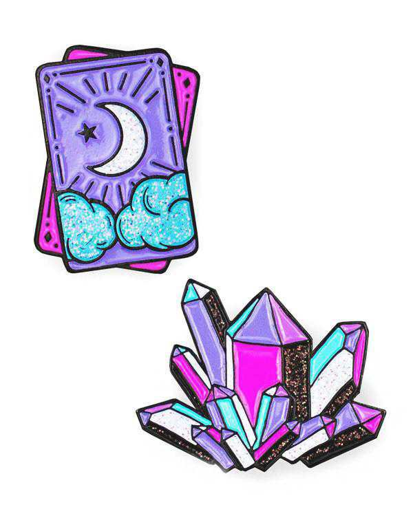 Tarot & Crystal Pin Set – Strange Ways