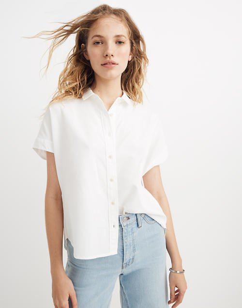 Cropped Button-Down Shirt
