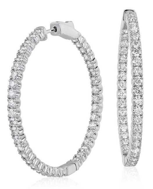 BLUE NILE Diamond Hoop Earrings