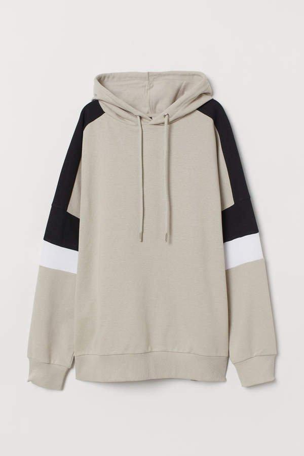 Cotton Hooded Sweatshirt - Brown