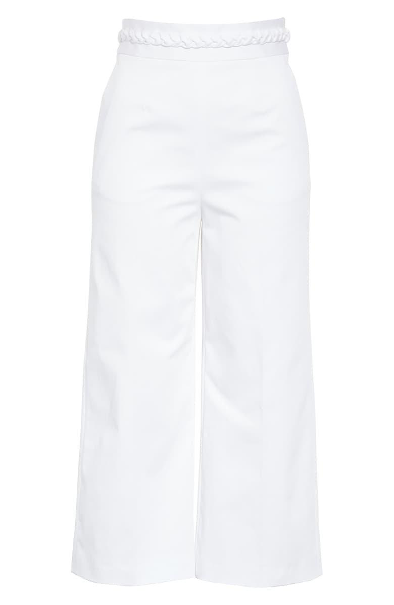 RED Valentino Braid Waist Pants White