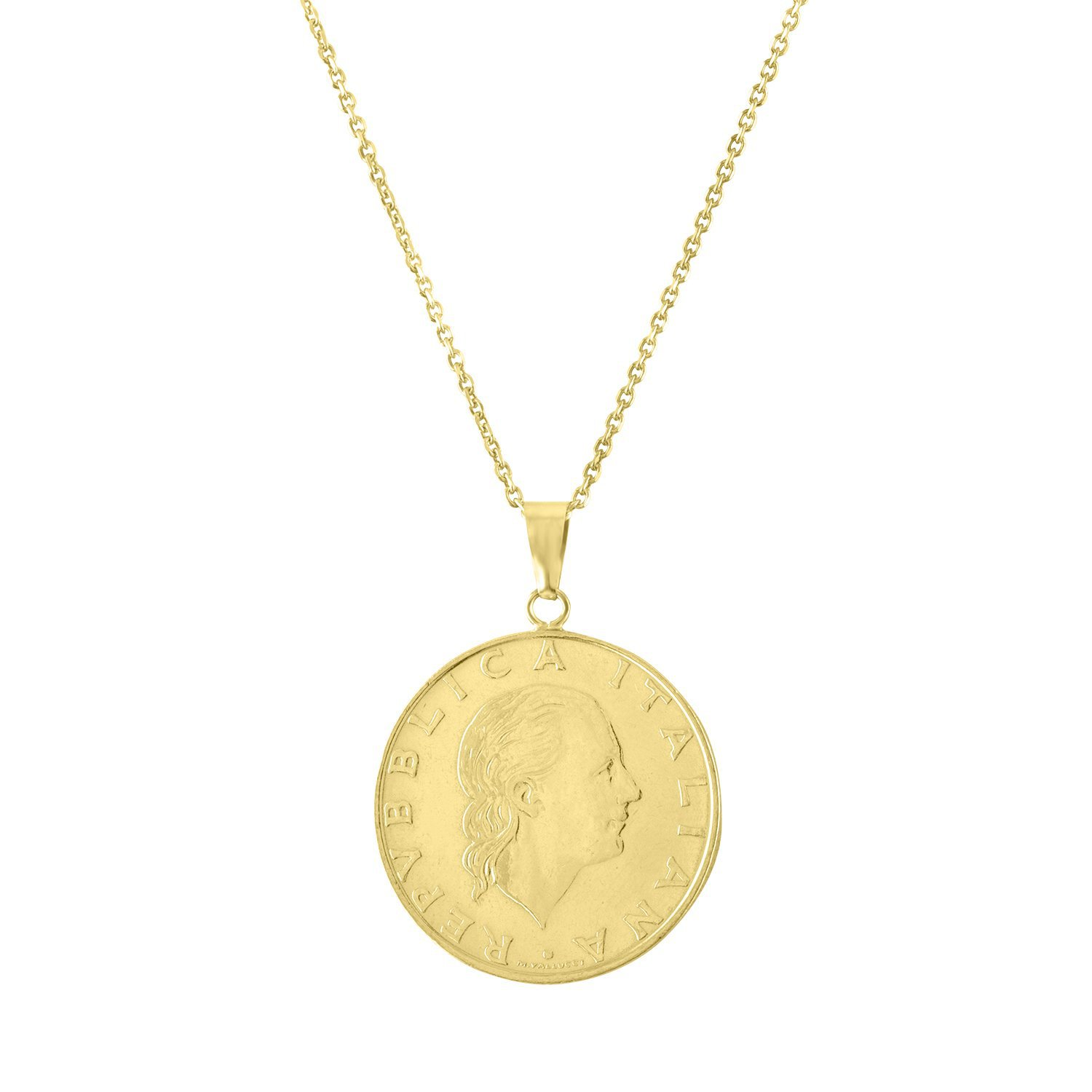 coin money gold necklace
