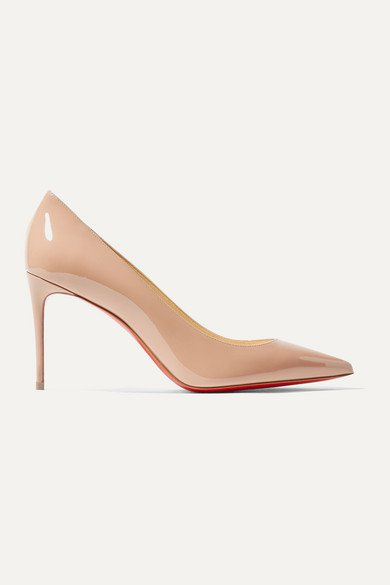 Christian Louboutin | Kate 85 patent-leather pumps | NET-A-PORTER.COM