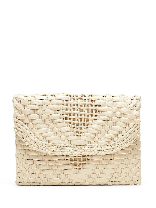 Straw Clutch | Banana Republic Camel