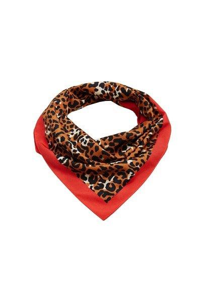 MANGO Leopard printed scarf