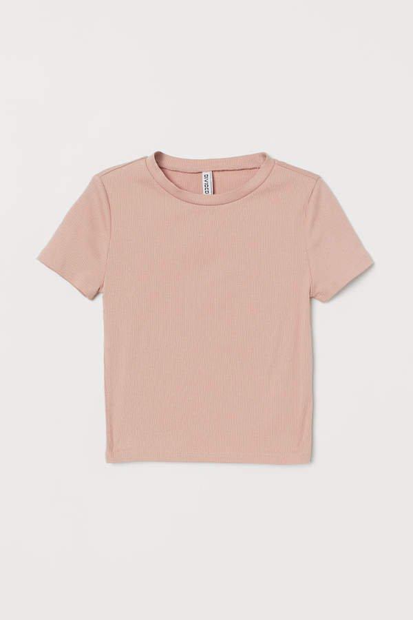 Rib-knit Top - Orange