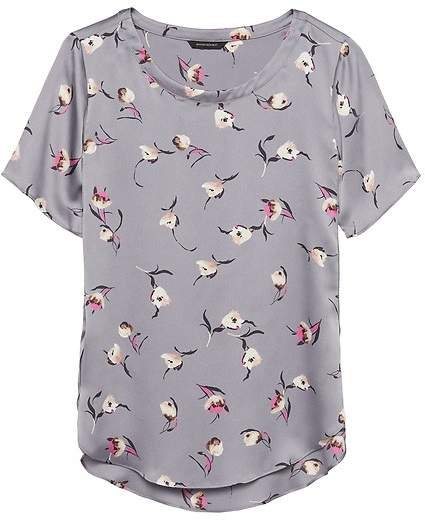 Floral Soft Satin Perfect Tunic Top