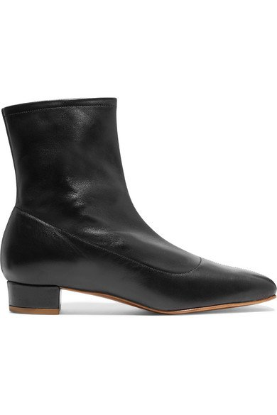 BY FAR | Este leather ankle boots | NET-A-PORTER.COM